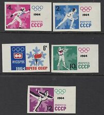 OLYMPICS : 1964 Russia Winter Olympics set IMPERF  SG 2947B-51B unhinged mint