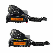 2Pcs Mobile Transceiver Radio Dual Band VHF(50W) /UHF(40W) Cross-Band Repeater