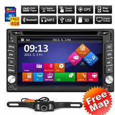 "6.2"" GPS Navigation Double 2DIN Car Stereo DVD Player Bluetooth iPod TV+Camera"