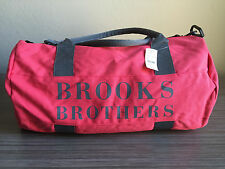 NWT BROOKS BROTHERS CANVAS DUFFLE GYM BAG PINK $40