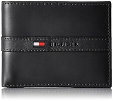 Authentic Brand New Tommy Hilfiger Mens Black Leather Ranger Wallet and Gift Box