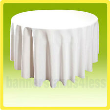 """120"""" Inch Round Table Cover Tablecloth Wedding Banquet Event - WHITE"""