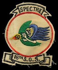 USAF 16th Special Operations Squadron SOS TAC-130 Spectre Patch S-15