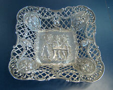 Antique Georg Roth Hallmark GR 800 Silver Ornate Dish, No Mono - 8 1/2""