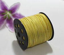 3mm Wholesale Sequins Faux Suede Leather Jewelry Necklace Bracelet DIY Cord