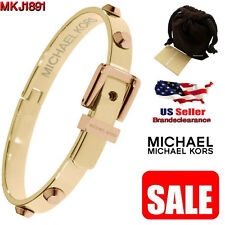 Michael Kors Women's Bracelet Astor Bangle Gold Tone Rose Gold Studs MKJ1891