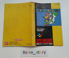 Super Nintendo SNES Super Mario World Notice / Instruction Manual