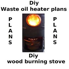 DIY PLANS waste oil burner heater wood burning stove  dvd rom package space