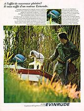 PUBLICITE ADVERTISING 094  1967  EVINRUDE  moteur bateau