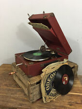 Vintage / Antique French Portable Windup Gramophone, Made by Inovat, C 1930's