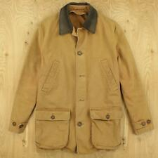 LANDS' END distressed canvas barn chore jacket coat size MEDIUM faded