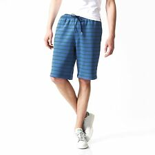 2016 NWT ADIDAS ADV KNIT SHORTS $40 M blue convoy green cotton