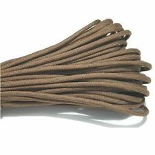 Coffee 25Ft 550 Paracord Parachute Cord Lanyard Mil Spec Type III 7 Strand Core