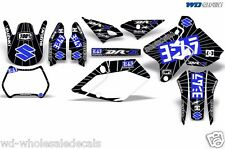Decal Graphic Kit Suzuki  DRZ400 DRZ 400 SM 400sm Backgrounds Y Exhaust Blue/Blk