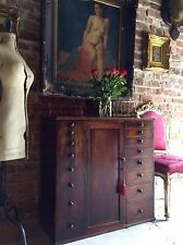 Stunning Antique Cabinet Estate Haberdashery Shop Mahogany Victorian19th Century