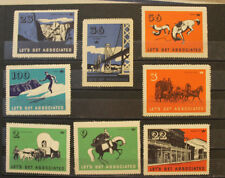 nice lot of vintage mnh tide water oil company poster stamps (14)
