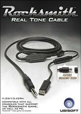 Rocksmith Real Tone Cable for Xbox One, Xbox 360, PS4, PS3, PC, or Mac Brand New