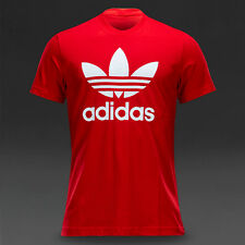 NEW!  ADIDAS ORIGINALS TREFOIL MEN'S CLASSIC  REGULAR FIT  LARGE TEE  RED