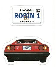 MAGNUM P. I. FERRARI Sticker Decal