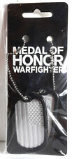 Medal of Honor Warfighter Dog Tag Set of 2 with Chain- Bioworld- FREE S&H