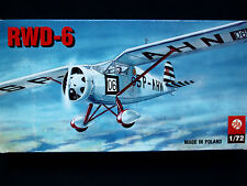 RWD-6 POLISH LIGHT SPORTS AEROPLANE, ZTS PLASTYK, SCALE 1/72