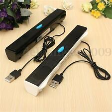 Mini Bar Speaker Music Player for Computer Desktop PC Laptop Notebook+ USB Cable