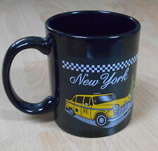 Black Coffee Mug With Picture Of New York Checker Taxi