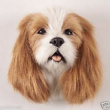 (2) CAV KG SPANIEL DOG MAGNETS! Very realistic collectible fur refrig. Magnets.