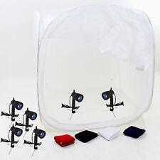 DynaSun PB01 Kit Tenda Luce Cubo 120cm Softbox 4 Fondali 6 Illuminatori, Stativo