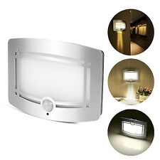 PIR Motion Sensor LED Wall Light Battery Operated Powered Sconce Loft Night Lamp