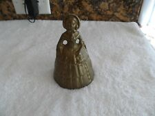 "Vintage Looking 4 1/2"" Victorian Lady Woman BRASS Dinner Tea Bell Figural"