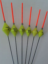 HAND MADE POLE FISHING FLOATS - RIZOV RF71 - 6 PIECES - 6 x 1 GRAM