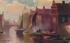 POSTCARD  SHIPS/ YACHTS/ BOATS  On the Dutch Canals