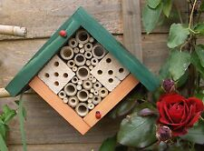 Wooden Square/Diamond Bug House Insect Shelter Bee Box Ladybird - Gift/Present