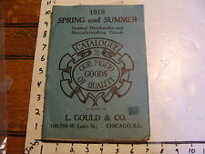 1919 Spring & Summer--L. GOULD & CO. 336 page CATALOGUE toys, goods,