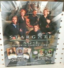 STARGATE SG1 SEASON 10   TRADING CARDS  -  PROMOTIONAL  SELL SHEET  8 1/2 x11