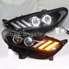 Mondeo LED angel eyes Head Lamps Light For FORD Fusion Titanium 2013-2015 Year