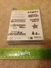 Stampin Up Retired Photopolymer Mount Stamp Set Christmas Bliss *NEW*
