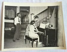 1940s Photo Girls at Solovox Piano Identified People Mid Century Home 8 x 10