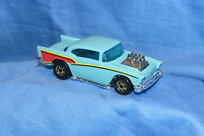 Hot Wheels Gold Hot Ones 57 Chevy Black Wall Turquoise loose 1/64