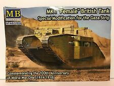 Master Box 1/72 MB72004 WW1 Female British Tank Un-Boxed Plastic Model Kit