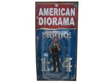 POLICE OFFICER JAKE FIGURE 1:24 SCALE DIECAST MODEL CARS AMERICAN DIORAMA 23839