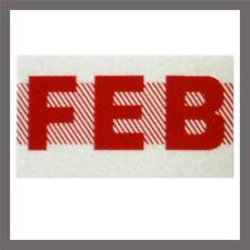 February Month California DMV License Plate Red Registration Sticker Tag YOM CA