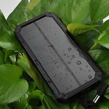 20000mAh Dual USB Portable Solar Panel Battery Charger Power Bank For Cell Phone