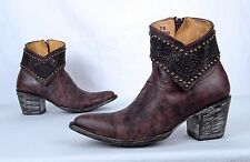 Old Gringo Studded Short Boot- Antiqued Brown- Size 7 B  $850  (BBB1)
