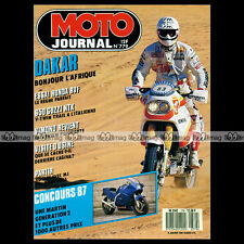 MOTO JOURNAL N°779 ★ GUZZI 650 NTX ★ HONDA 750 RVF ★ DAYTONA, PARIS-DAKAR 1987