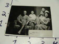 vintage 1950's JAPANESE FAMILY PHOTO send in Christmas card