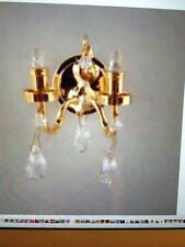 Dollhouse Miniature Lighting - BATTERY OPERATED - DOUBLE SCONCE W/CRYSTALS 1:12