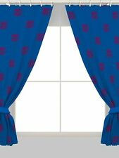 NEW BARCELONA FC READY MADE CURTAINS PAIR SET - 66x54 INCH - BOYS KIDS FOOTBALL