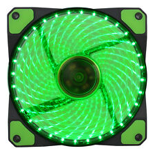 GIOCO Max GaleForce 32 x LED VERDE 120 mm Ventola PC 12cm Ventola Case Alte Prestazioni